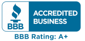 bbb accredited business with an A+ rating