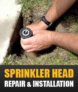 sprinkler head repair adn installtion in Desoto TX